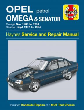 Opel Omega & Senator Petrol (Nov 86 - 94) Haynes Repair Manual
