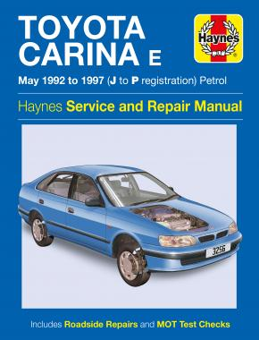 Toyota Carina E Petrol (May 92 - 97) Haynes Repair Manual
