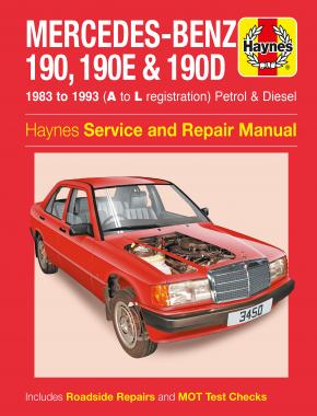 Mercedes-Benz 190, 190E & 190D Petrol & Diesel (83 - 93) Haynes Repair Manual