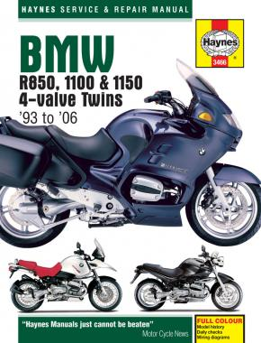 BMW R850, 1100 & 1150 4-valve Twins (93 - 06) Haynes Repair Manual