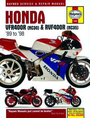 Honda VFR400 (NC30) & RVF400 (NC35) V-Fours (89 - 98) Haynes Repair Manual