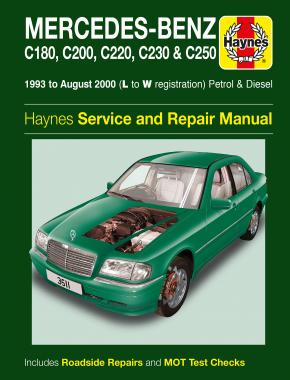Mercedes-Benz C-Class Petrol & Diesel (93 - Aug 00) Haynes Repair Manual
