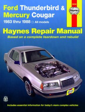 Ford Thunderbird & Mercury Cougar inc. Cougar XR7 (1983-1988) Haynes Repair Manual (USA)