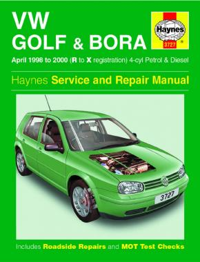VW Golf & Bora Petrol & Diesel (April 98 - 00) Haynes Repair Manual