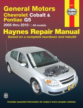 General Motors Chevrolet Cobalt (05-10), Pontiac G5 (07-09) & Pontiac Pursuit (05-06) Haynes Repair Manual (USA)