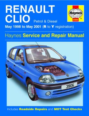 Renault Clio Petrol & Diesel (May 98 - May 01) Haynes Repair Manual