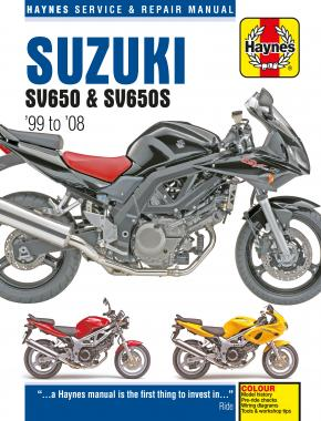 Suzuki SV650 & SV650S (99 - 08) Haynes Repair Manual