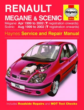 Renault Megane & Scenic Petrol & Diesel (Apr 99 - 02) Haynes Repair Manual