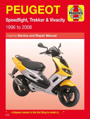 Peugeot Speedfight, Trekker & Vivacity Scooters (96 - 08) Haynes Repair Manual