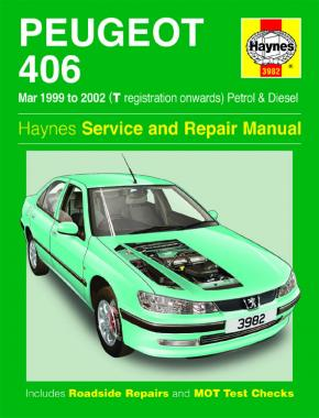 Peugeot 406 Petrol & Diesel (Mar 99 - 02) Haynes Repair Manual