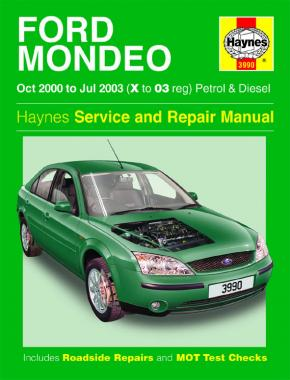 Ford Mondeo Petrol & Diesel (Oct 00 - Jul 03) Haynes Repair Manual