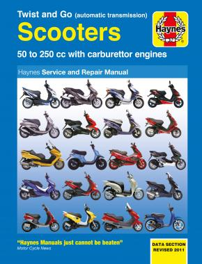 Twist & Go (automatic) 50 - 250cc Scooters Haynes Repair Manual