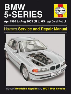 BMW 5-Series 6-cyl Petrol (April 96 - Aug 03) Haynes Repair Manual