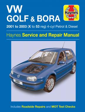 VW Golf & Bora 4-cyl Petrol & Diesel (01 - 03) Haynes Repair Manual