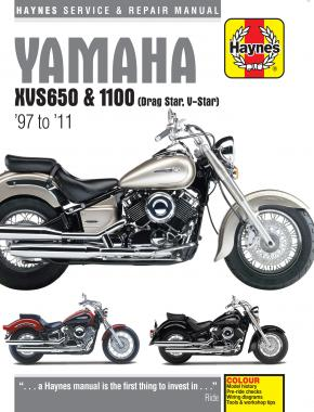 Yamaha XVS650 & 1100 Drag Star/V-Star (97 - 11) Haynes Repair Manual