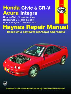 Honda Civic (1996-2000), CR-V (1997-2001) & Acura Integra (1994-2000) Haynes Repair Manual (USA)