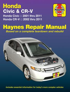 Honda Civic (2001-2011) & CR-V (2002-2011) Haynes Repair Manual (USA)