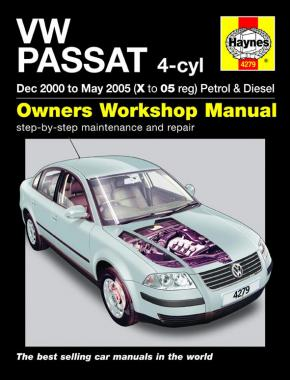 VW Passat Petrol & Diesel (Dec 00 - May 05) Haynes Repair Manual