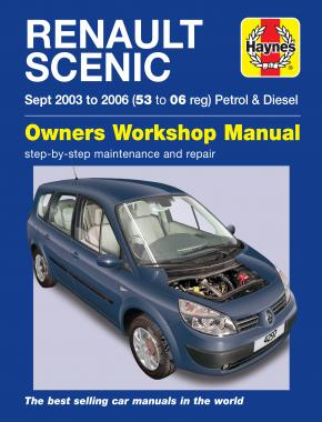 Renault Scenic Petrol & Diesel (Sept 03 - 06) Haynes Repair Manual