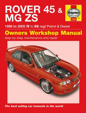 Rover 45 / MG ZS Petrol & Diesel (99 - 05) Haynes Repair Manual