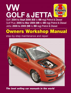 VW Golf (04 - Sept 08), Golf Plus (05 - Mar 09) & Jetta (06 - 09) Haynes Repair Manual