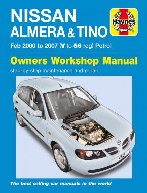 Nissan Almera & Tino Petrol (Feb 00 - 07) Haynes Repair Manual
