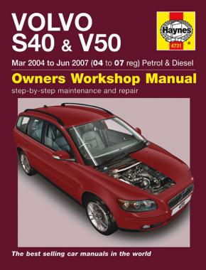 Volvo S40 & V50 Petrol & Diesel (Mar 04 - Jun 07) Haynes Repair Manual