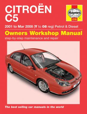 Citroen C5 Petrol & Diesel (01 - Mar 08) Haynes Repair Manual