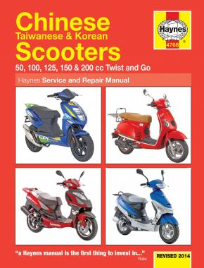 chinese taiwanese korean scooters 50cc 125cc 150cc 04 14 rh haynes com Repair Manuals Service Station