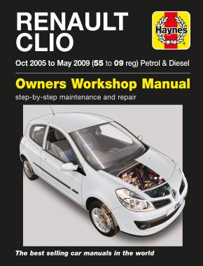 Renault Clio Petrol & Diesel (Oct 05 - May 09) Haynes Repair Manual