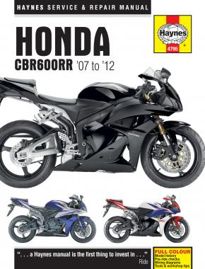 Honda CBR600RR (07-12) Haynes Repair Manual