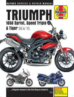 Triumph 1050 Sprint ST, Speed Triple & Tiger (05 - 15) Haynes Repair Manual