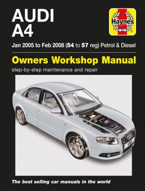 Audi A4 Petrol & Diesel (Jan 05 to Feb 08) Haynes Repair Manual