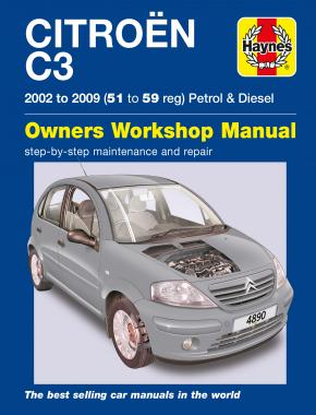 Citroen C3 Petrol & Diesel (02 - 09) Haynes Repair Manual