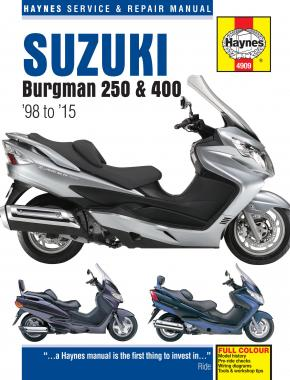 Suzuki Burgman 250 & 400 (98 - 15) Haynes Repair Manual