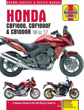 Honda CBF1000 (06 - 10), CBF1000F (11 - 17) & CB1000R (08 - 17) Haynes Repair Manual