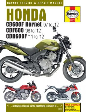 Honda CB600 Hornet, CBF600 & CBR600F (07 - 12) Haynes Repair Manual