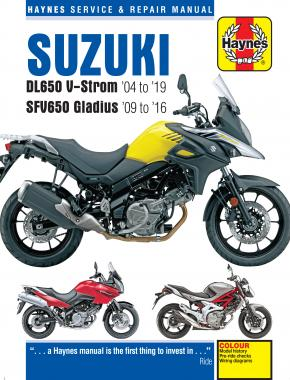 Suzuki DL650 V-Strom & SFV650 Gladius (04 - 13) Haynes Repair Manual
