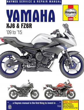 Yamaha XJ6 & FZ6R (09-15) Haynes Repair Manual