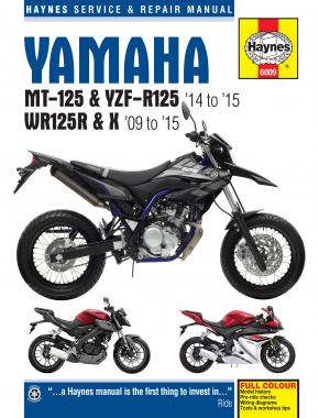 Yamaha MT-125, YZF-R125 (14 - 15) & WR125R/X (09 - 15) Haynes Repair Manual