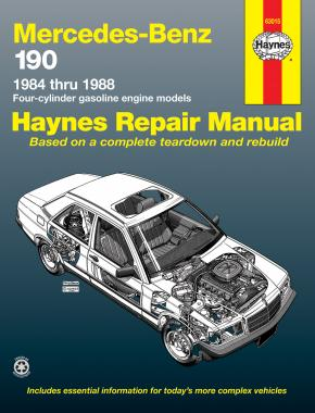 Mercedes-Benz 190 4-cylinder petrol (1984-1988) Haynes Repair Manual (USA)
