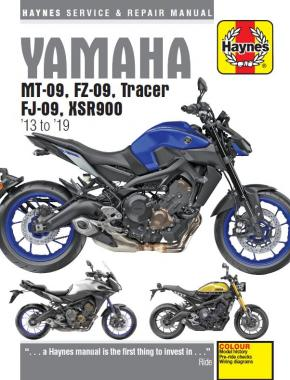 Yamaha MT-09, Tracer and XSR900 (13 - 16) Haynes Repair Manual