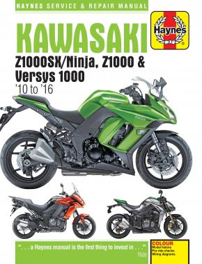 Kawasaki Z1000, Z1000SX & Versys (10 to 16) Haynes Repair Manual