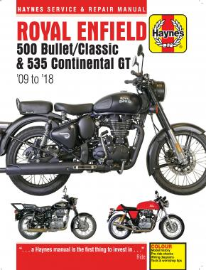 Royal Enfield 500 Bullet/Classic & 535 Continental GT (09 - 18) Haynes Repair Manual