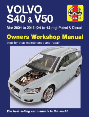 Volvo S40 & V50 Petrol & Diesel (Mar '04-'13) Haynes Repair Manual