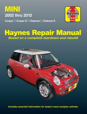 Mini Cooper, Cooper S, Clubman & Clubman S (2002-2013) Haynes Repair Manual (USA)