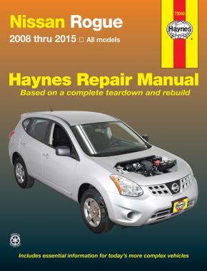 Nissan Rogue (2008-2015) Haynes Repair Manual (USA)