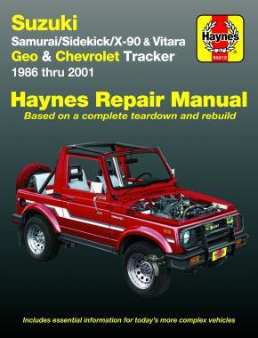 Suzuki Samurai (86-95), Sidekick (89-98), X-90 (96-98) & Vitara (99-01), Geo Tracker (86-97) & Chevrolet Tracker (98-01) Haynes Repair Manual (USA)