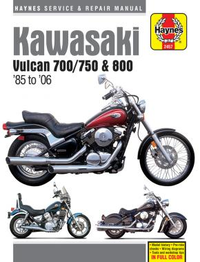 Kawasaki Vulcan 700/750 & 800 (85 - 06) Haynes Repair Manual