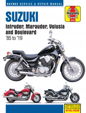 Suzuki Intruder, Marauder, Volusia & Boulevard covering VS700, VS750 & VS800 Intruder (85-04), VZ 800 Marauder (97-04), VL800 Volusia (01-04) & C50/M50 Boulevard (05-19) S50 Boulevard (05-09) Haynes Repair Manual